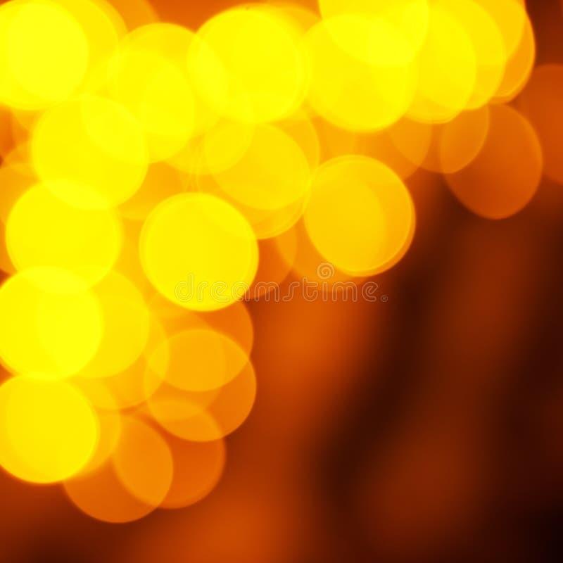 Vakantie abstracte rode en gele lichten stock foto