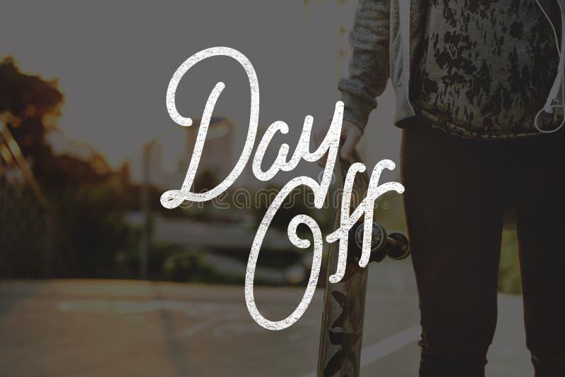 Vakantie Dag van het Onbezorgde Concept van de Ontspanningsvakantie stock afbeelding