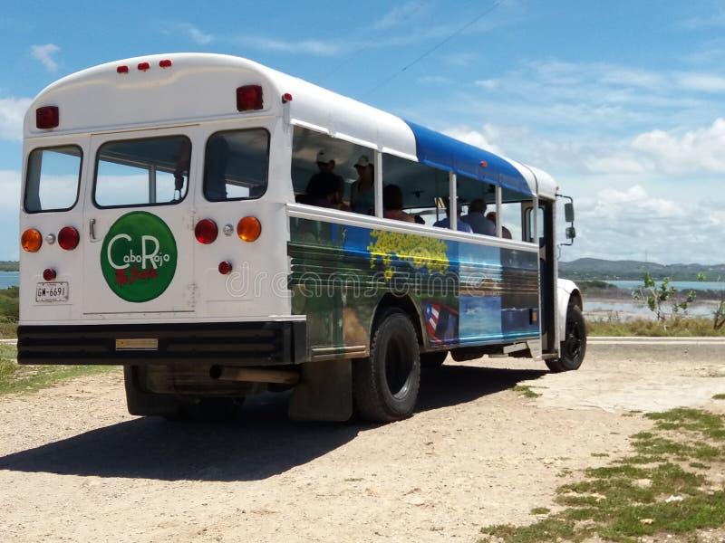 Vakantie in de bus royalty-vrije stock afbeeldingen