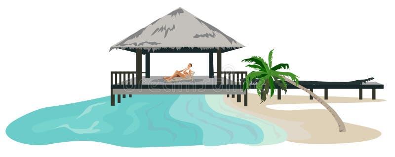Vakantie in de Keerkringen royalty-vrije illustratie