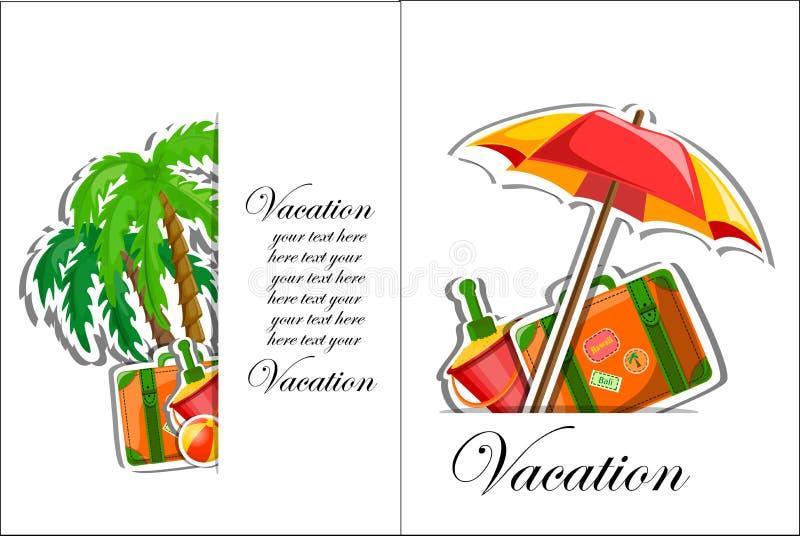 Vakantie en reisachtergrond royalty-vrije illustratie