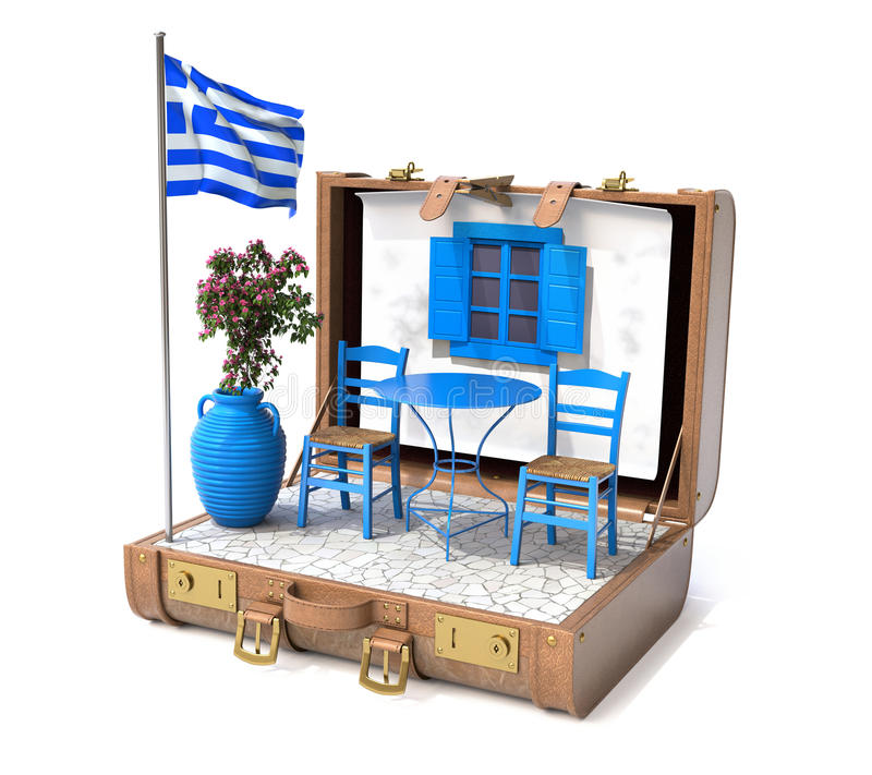 Vakantie in Griekenland stock illustratie