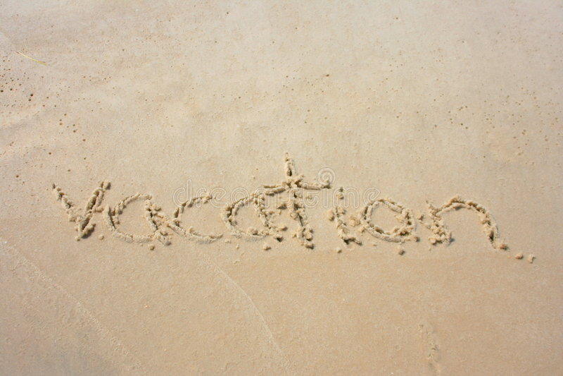 Vakantie in het zand stock afbeelding