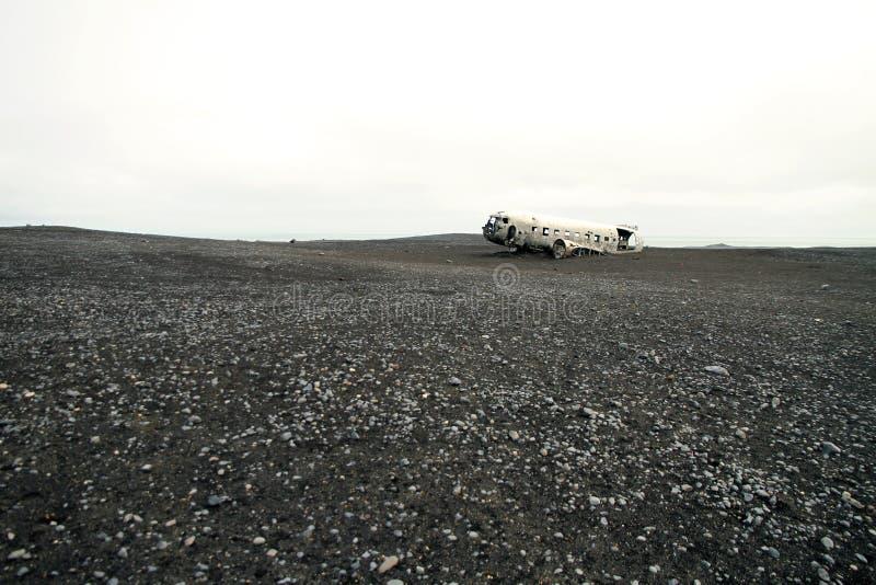 Solheimasandur Plane Wreck, iceland stock image
