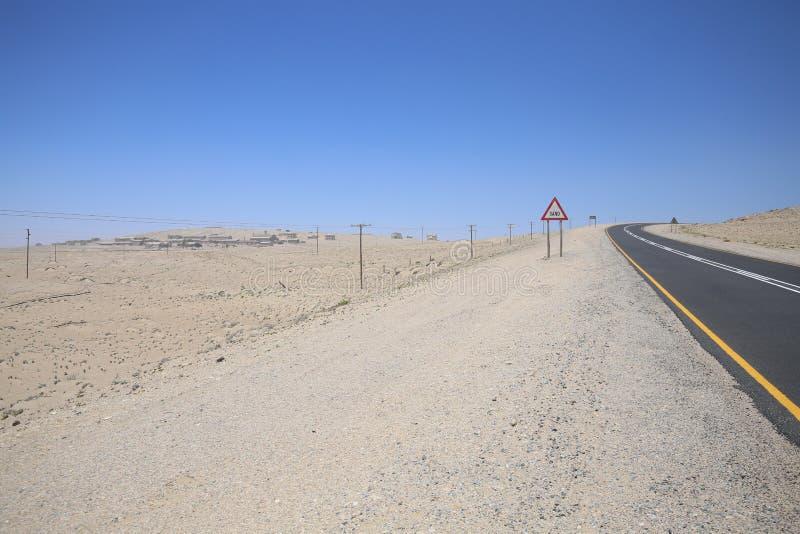 Road to ghost town kolmanskoppe. Road to luderitz and old mining town kolmanskoppe, namibia stock image