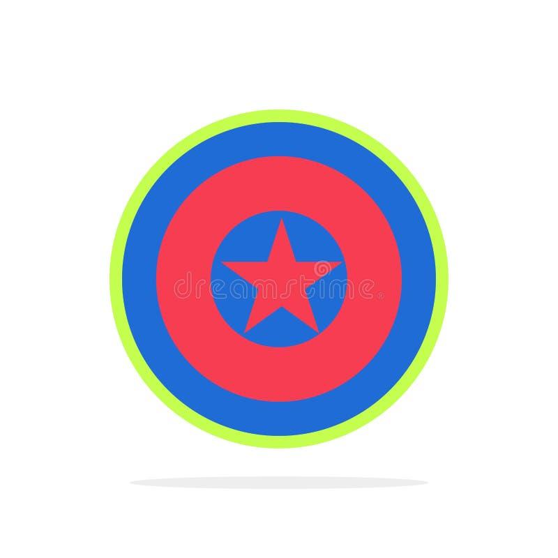 Vakantie, Onafhankelijkheid, Onafhankelijkheidsdag, van de Achtergrond medaille Abstract Cirkel Vlak kleurenpictogram royalty-vrije illustratie