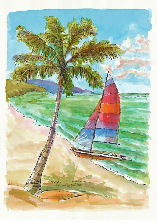 Vakantie op het overzees stock illustratie
