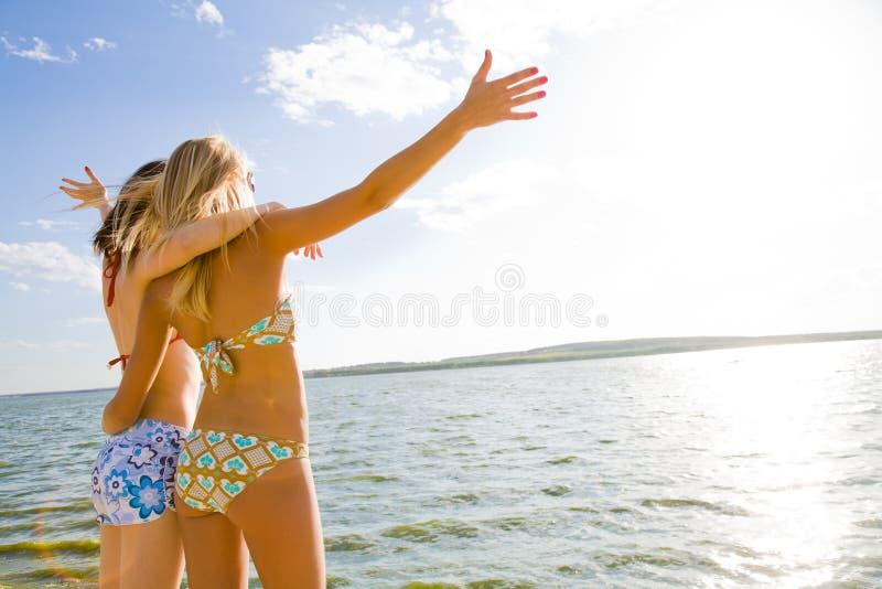 Vakantie op zee stock fotografie