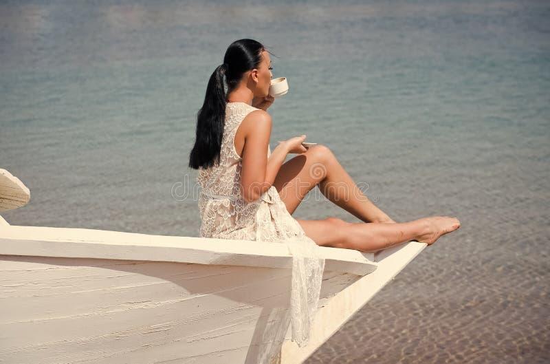 Vakantie op zee De zomer vakantie en het reizen stock afbeelding