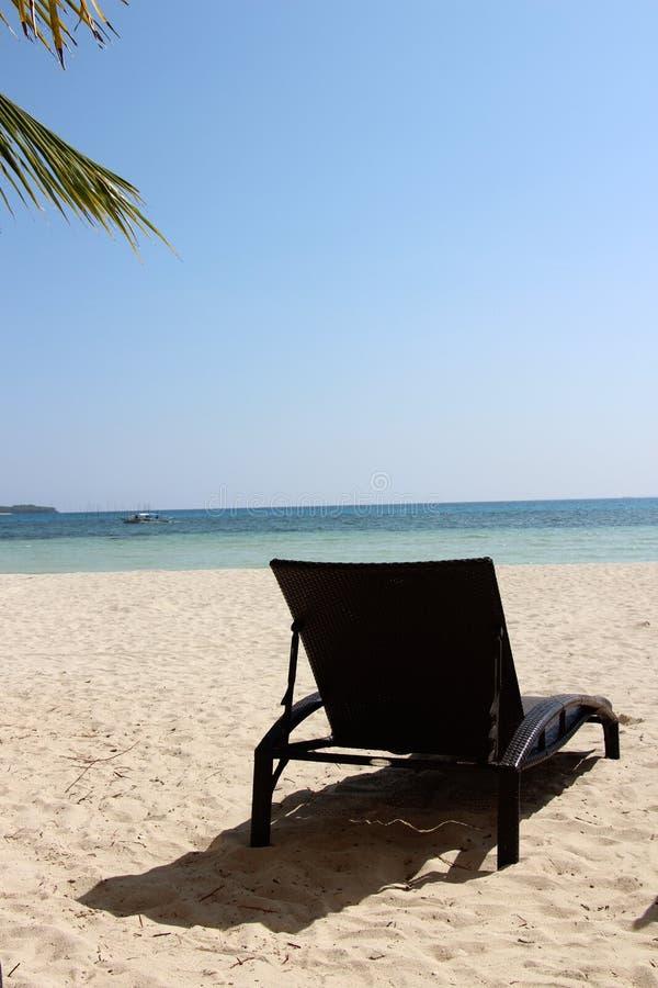 Vakantie op zee, oceaan, rust op het eiland, Vreedzame oceaan royalty-vrije stock afbeelding