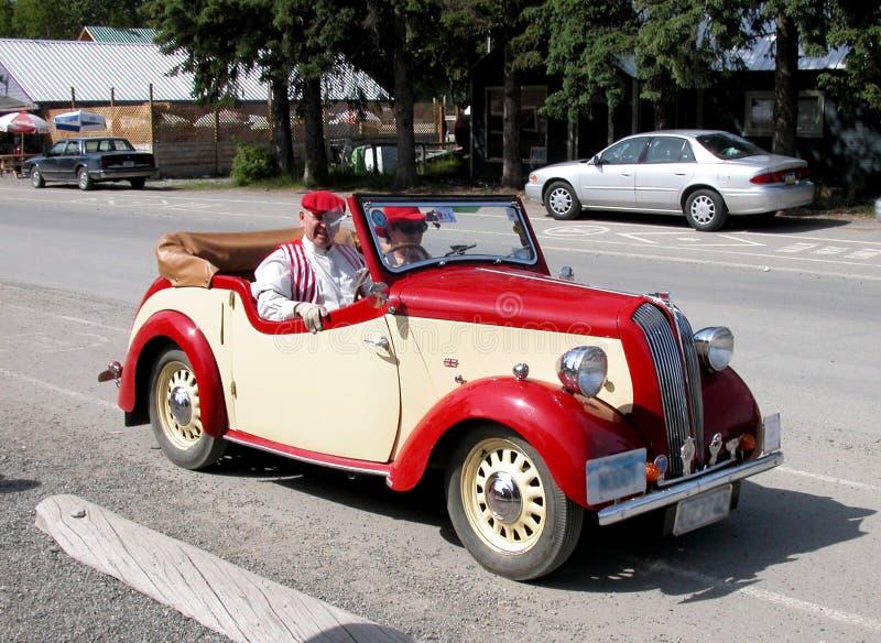 Vakantie retro auto's in Anchorage stock afbeeldingen