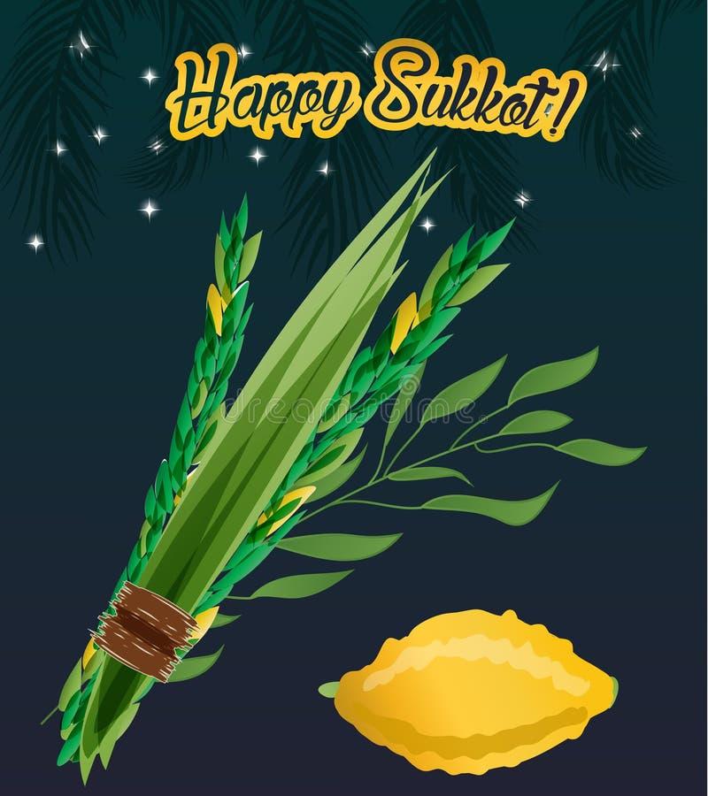 Vakantie van Sukkot-illustratie vector illustratie