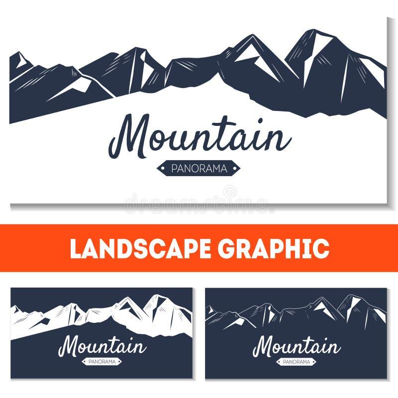 Vakantieachtergrond met bergen stock afbeelding