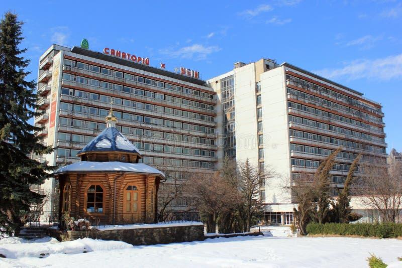 Vakantiecentra in Truskavets, de Oekraïne stock foto's