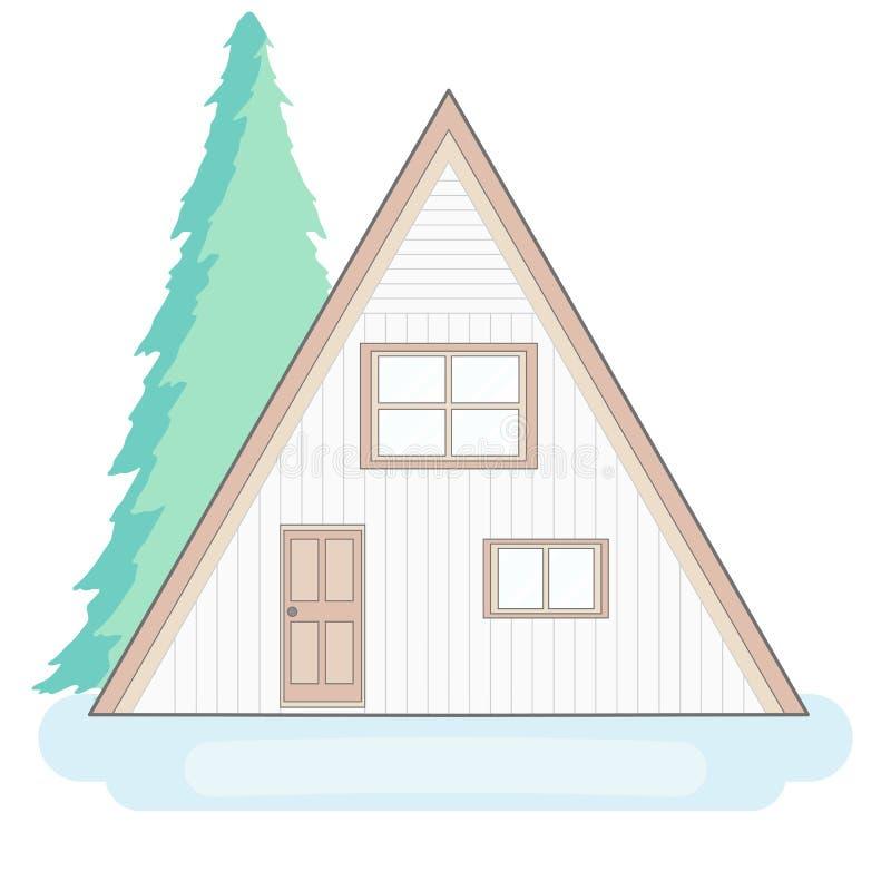 Vakantiehuis stock illustratie