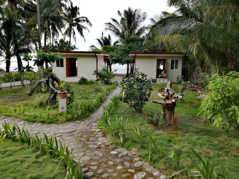 Vakantiehuis op tropisch eiland royalty-vrije stock fotografie