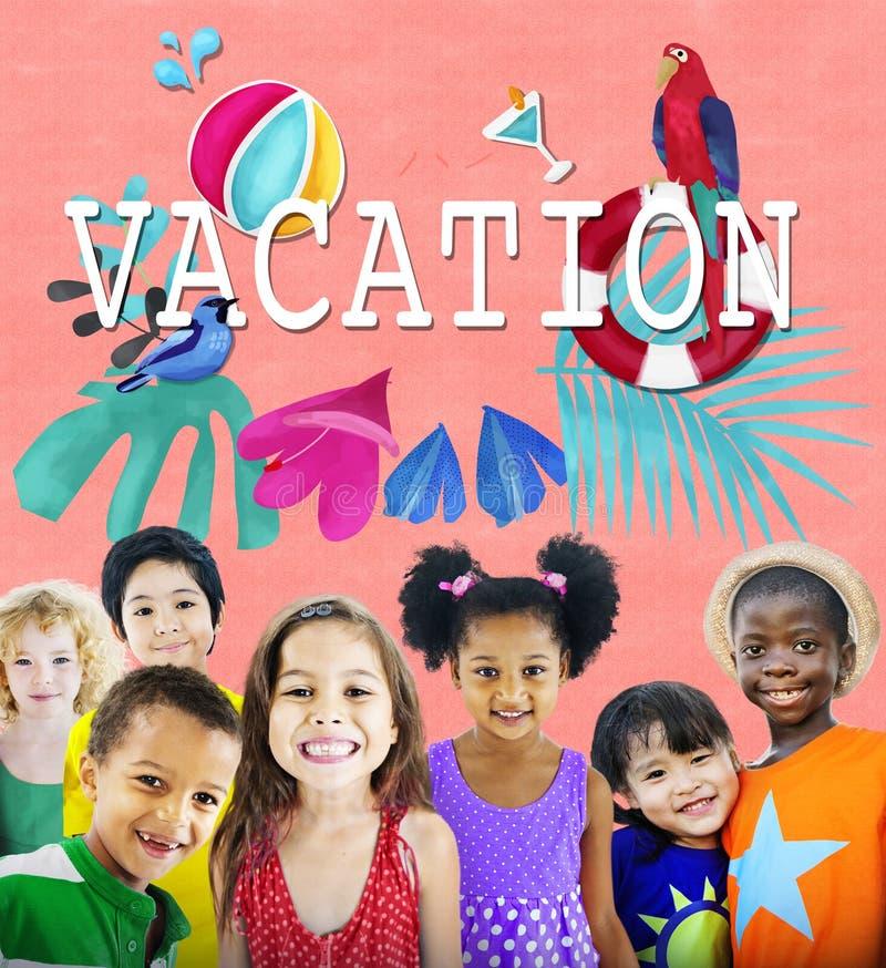 Vakantieonderbreking Vakantie de Zomer van Concept stock afbeelding