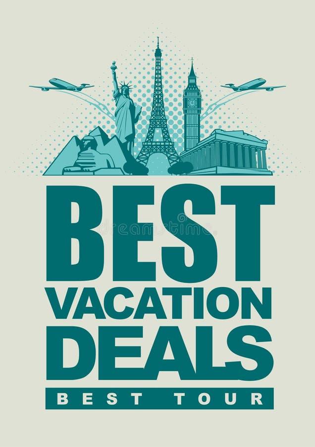 Vakantieovereenkomsten stock illustratie