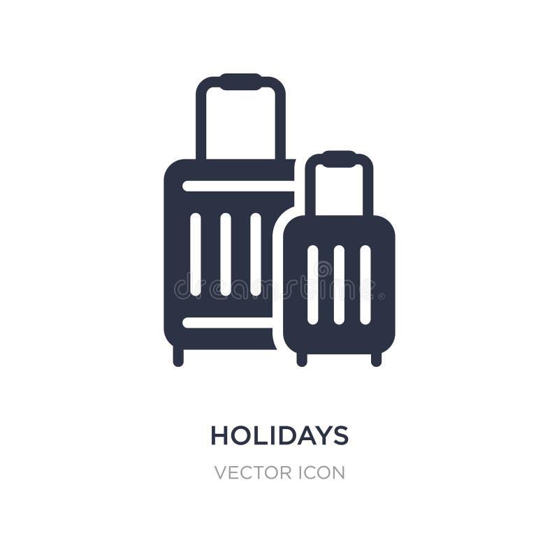 vakantiepictogram op witte achtergrond Eenvoudige elementenillustratie van Technologieconcept stock illustratie