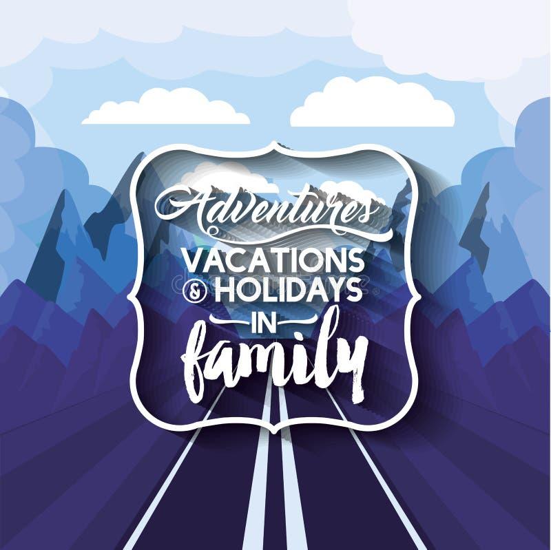 Vakanties in familieontwerp stock illustratie