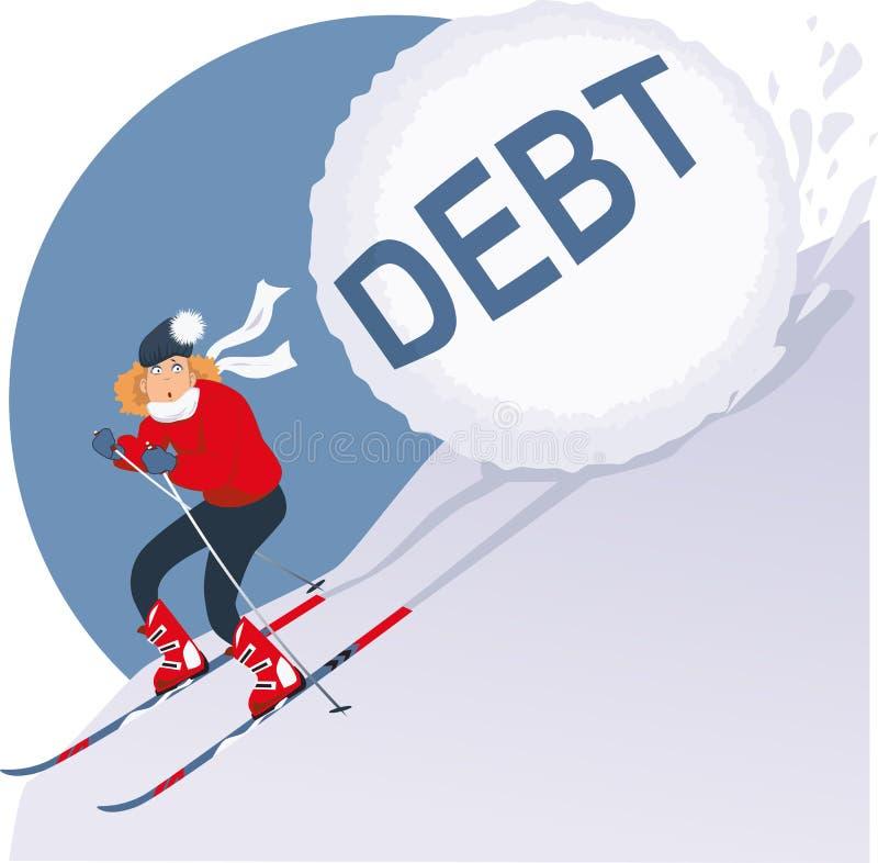 Vakantieschuld vector illustratie