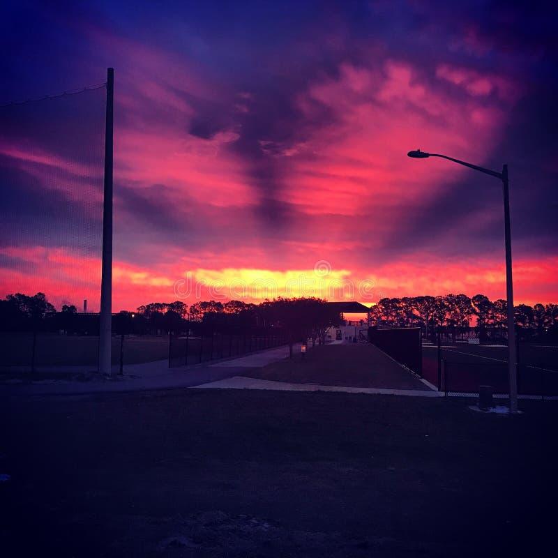 Vaken upp varje morgon och att se detta är nästan som uppehälle i paradis arkivfoton