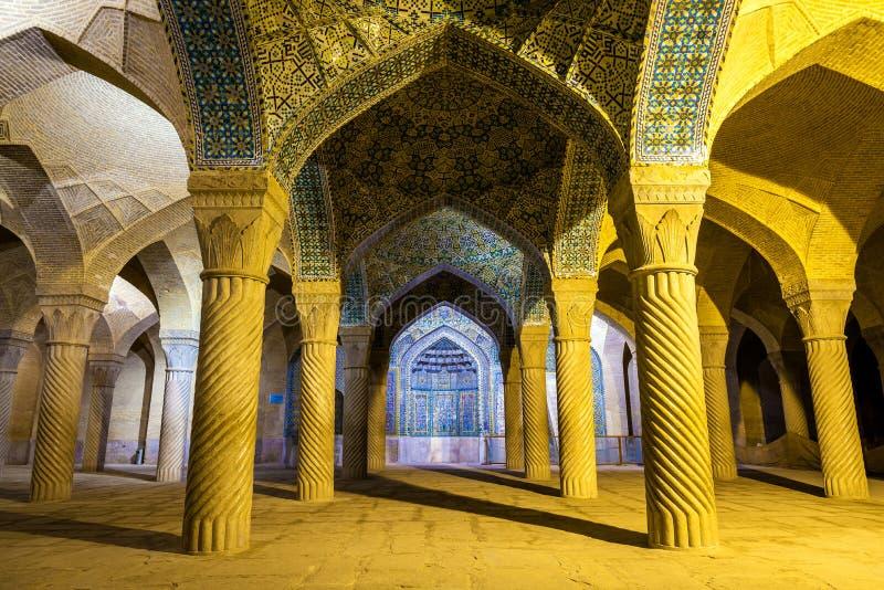 Vakil清真寺内部在设拉子,伊朗 免版税库存图片