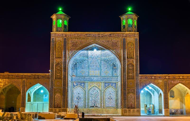 Vakil清真寺,一个清真寺在设拉子,南伊朗 免版税图库摄影