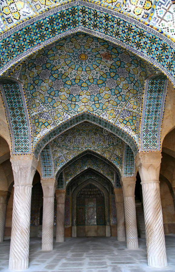 Vakil mosque, Shiraz, Iran stock image