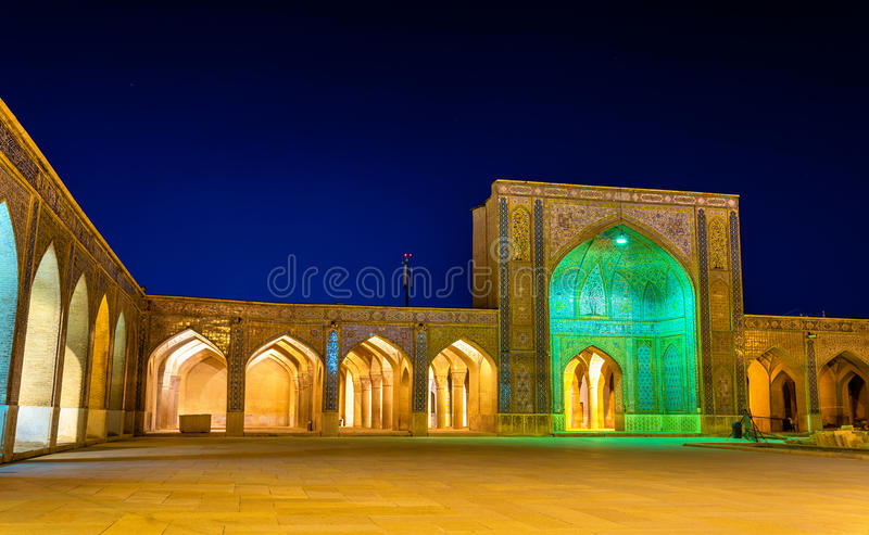 Vakilmoskee, een moskee in Shiraz, zuidelijk Iran stock foto