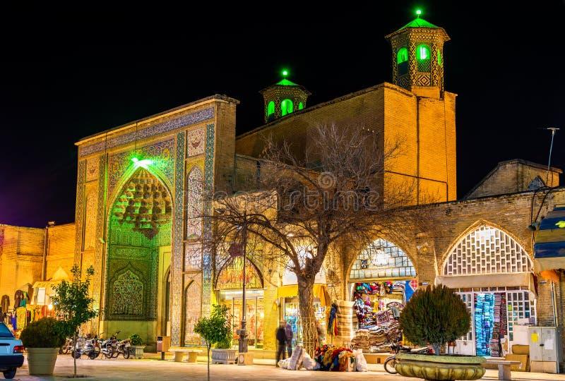 Vakilmoskee, een moskee in Shiraz, zuidelijk Iran stock afbeeldingen