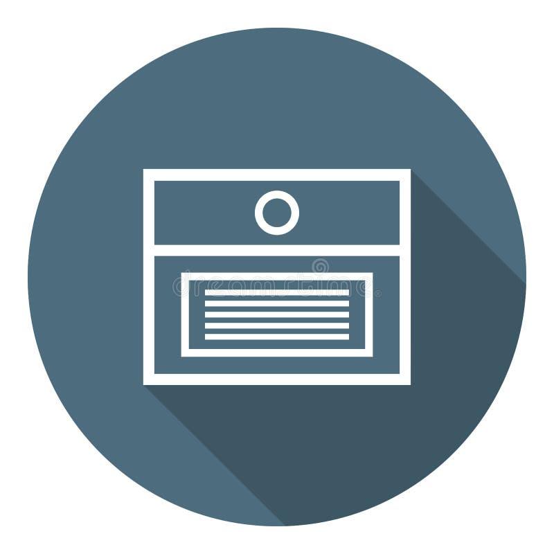 Vakje voor Documenten Overzichts vlak pictogram Dossierbescherming, Gegevensbeveiliging, Veilige Vertrouwelijke Informatie Vector royalty-vrije illustratie