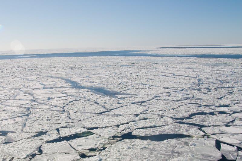 Vakna från ett skepp på det djupfrysta havet arkivfoton