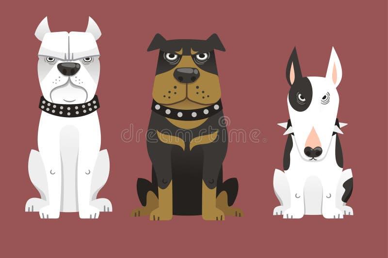 Vakthund 2 royaltyfri illustrationer
