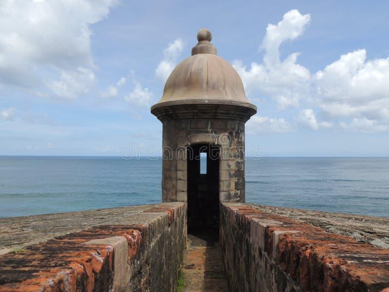 Vaktpost Puerto Rico arkivfoto
