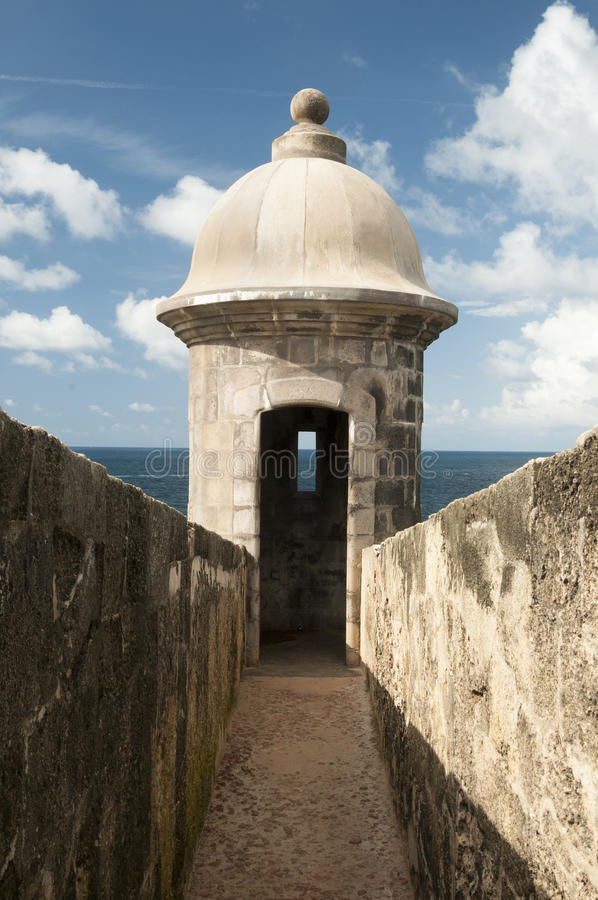 Vaktpostask - San Juan, Puerto Rico royaltyfria bilder