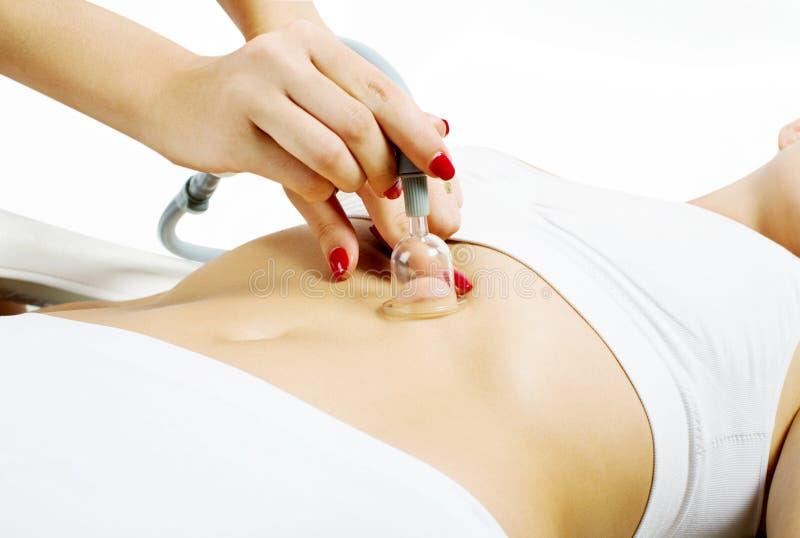 Vakuum, das Massage abnimmt lizenzfreie stockfotos