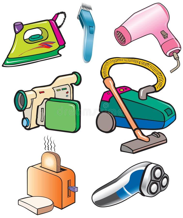 vakuum för toaster för järn för brödkamerarengöringsmedel stock illustrationer