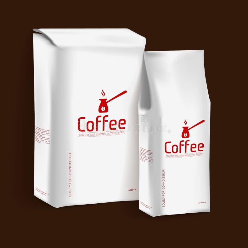 Vakuumpacke av kaffe vektor illustrationer