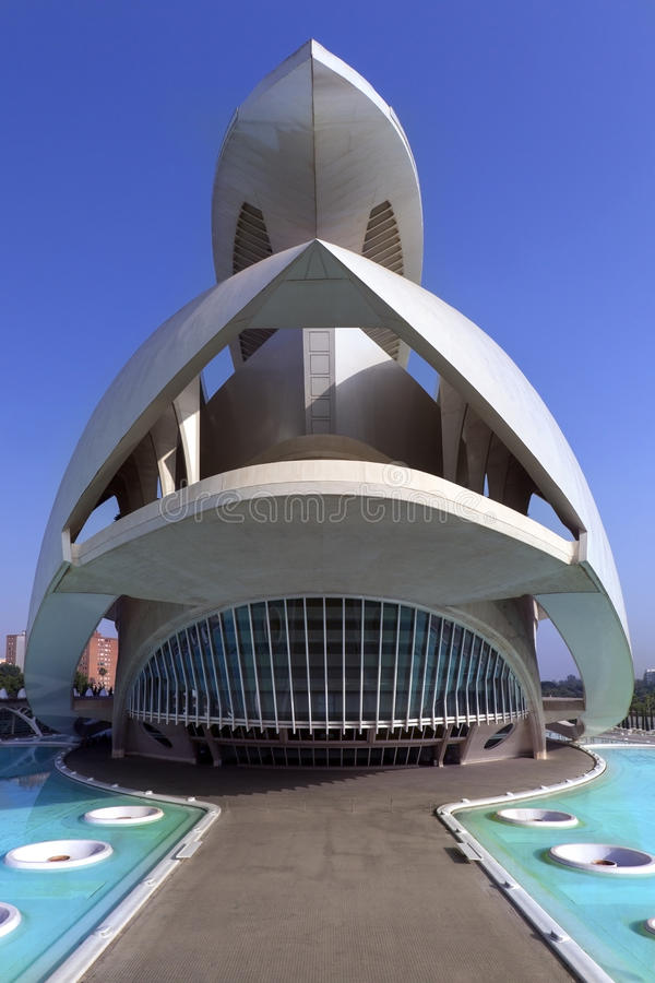 Valência - cidade das artes & das ciências - Espanha imagem de stock royalty free