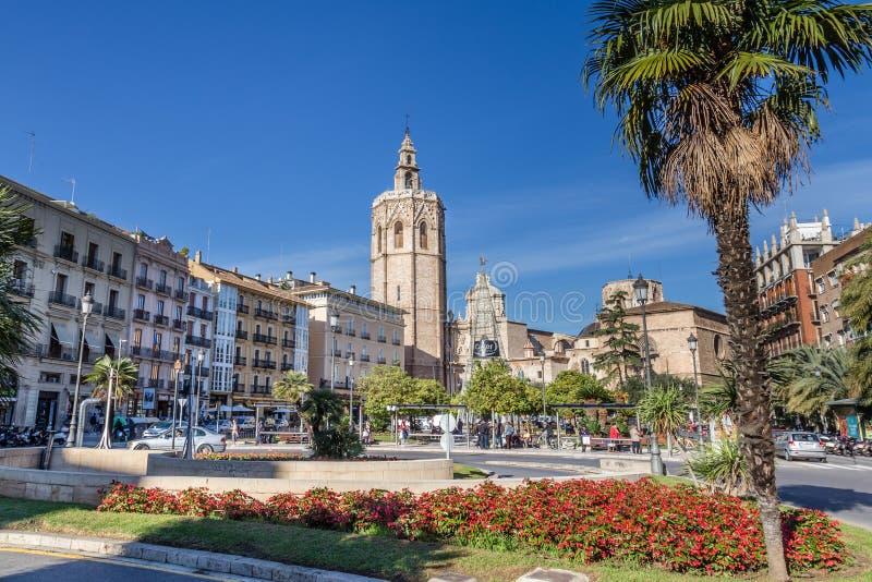 Valência, Espanha 2 de dezembro de 2016: Catedral Valência fotos de stock