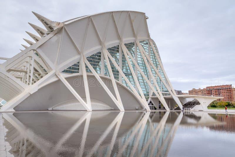 Valência, Espanha 1º de dezembro de 2016: Cidade das artes e da ciência foto de stock royalty free