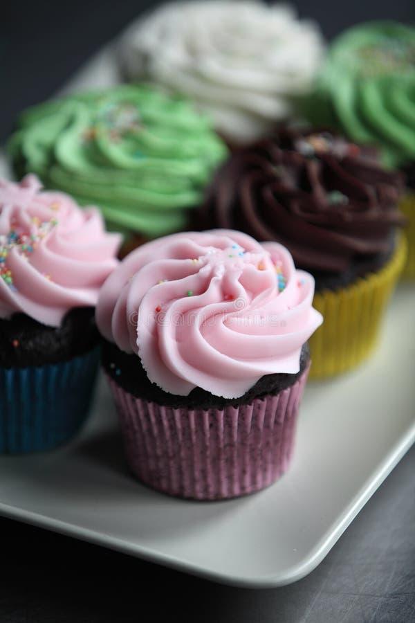 Val av blandade muffin royaltyfri fotografi