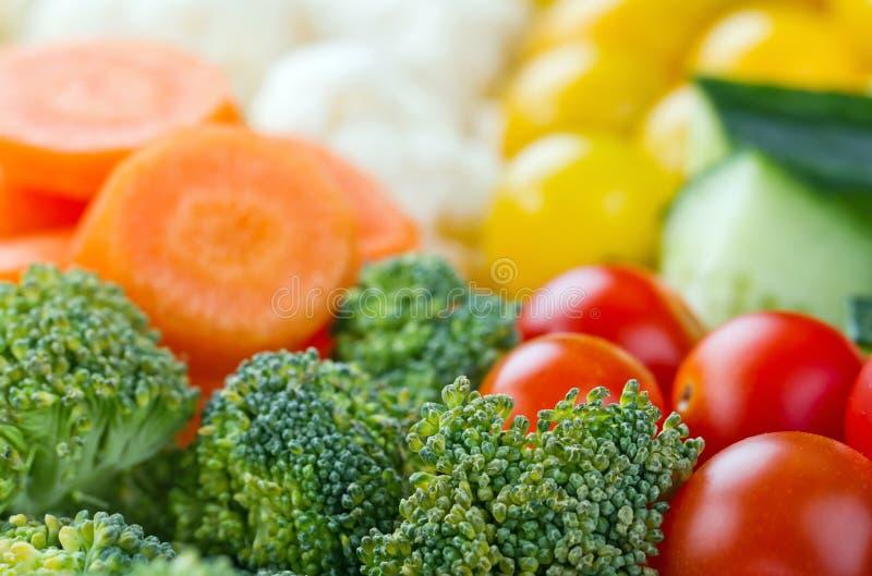 Val av färgrika sunda grönsaker arkivbild