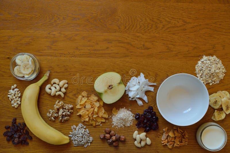 Val av sädesslag för frukost royaltyfri fotografi