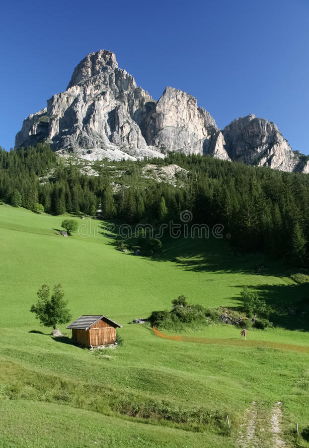 Download Val Badia Dolomites Sassongher Mountain Stock Image - Image: 20460549