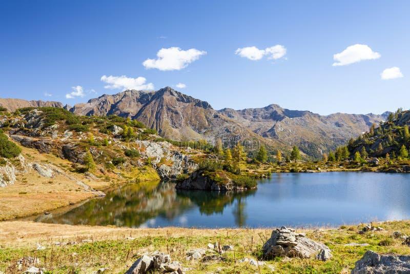 Val Belviso - Valtellina IT. Black Lake - Val Belviso - Valtellina IT stock image