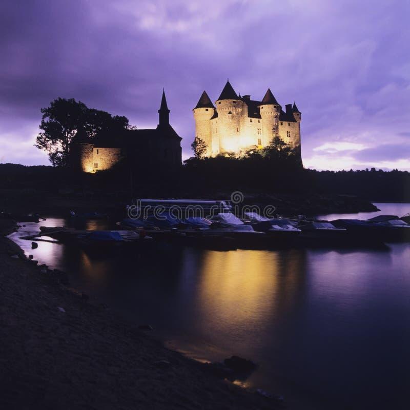 val chateau de royaltyfri foto