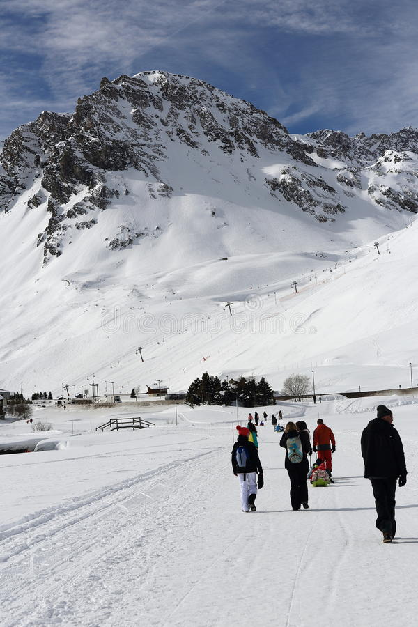 Val Claret Winter Ski Resort Of TignesVal D Isere France Stock