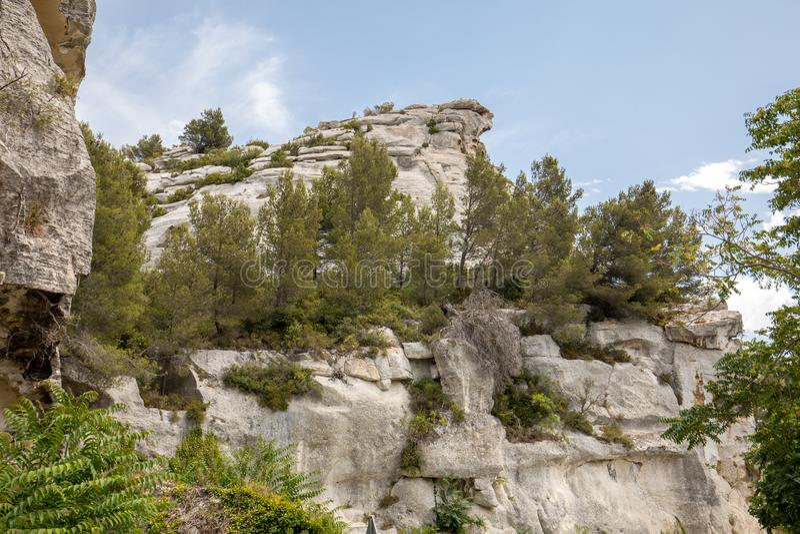 Val D ` Efner, Les Baux DE de Provence, de bouches-du-Rhône, de Provence royalty-vrije stock foto's